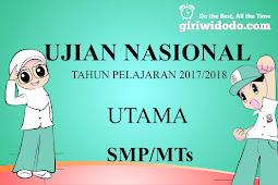 Download Soal UN/UNBK Matematika SMP 2018