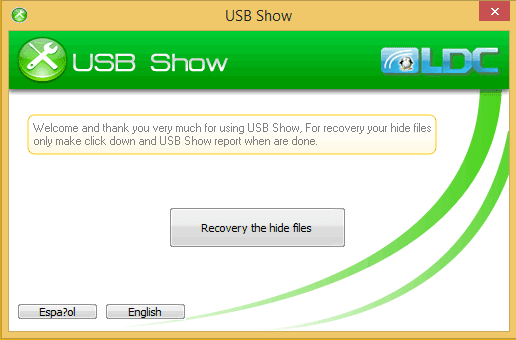 تحميل برنامج إظهار الملفات المخفية من الفلاشات  USB Show