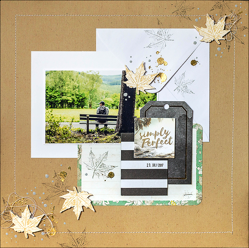 Stephanie Berger - Scrapbooking Layout - Wycinanka - Simply Perfect