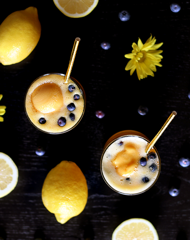 Mango Lemon Prosecco Cocktails