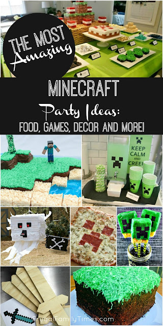 Minecraft birthday party printables crafts and games frugal birthday party ideas over the years oceans eleven style heist secret agent and some tips for low stress ones too you can find them all here solutioingenieria Image collections