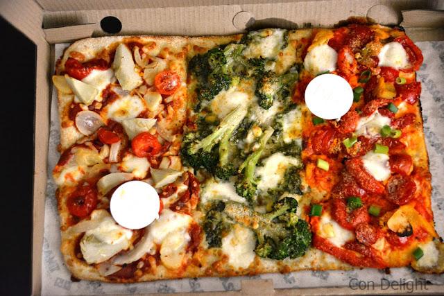 ארוחת טעימות דומינו'ס Domino's vegetarian meal