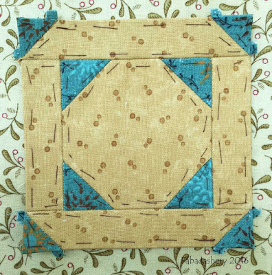 Dear Jane Quilt - Block F3 Snowball