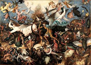 ピーテル・ブリューゲル、叛逆天使の墜落、王立美術館・ブリュッセル