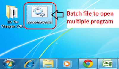 Create a Batch file to Open Multiple Programs