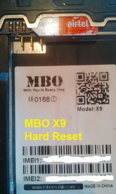 How to Reset MBO X9 android