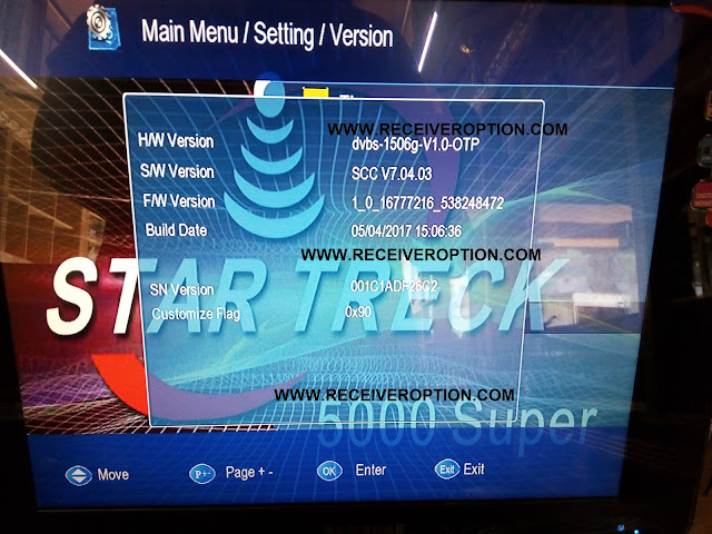STAR TRECK 5000 SUPER HD RECEIVER FLASH FILE