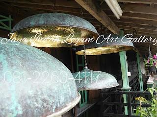 lampu gantung kerajinan logam tembaga dan kuningan