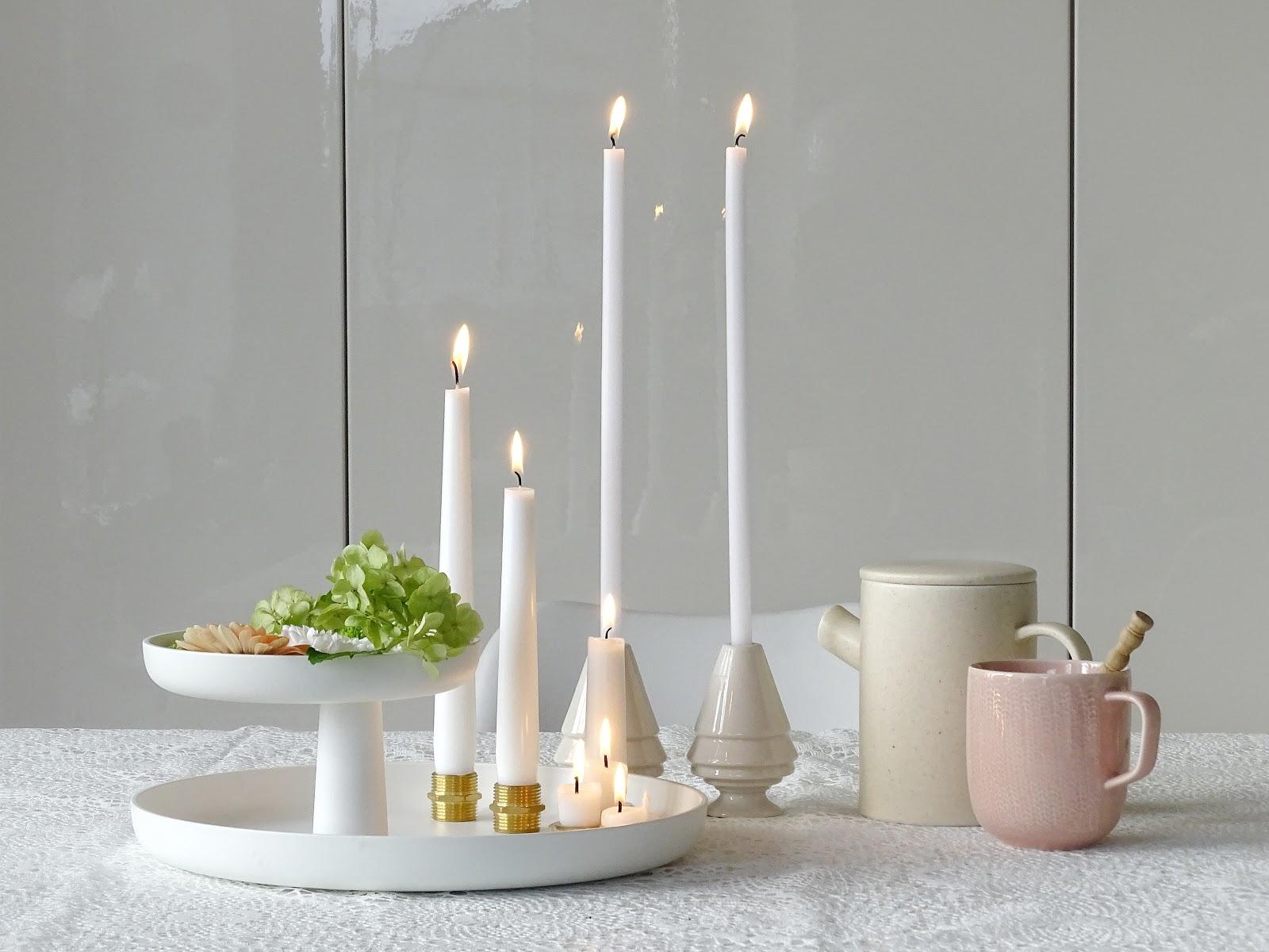 5 Deko-, Verwendungs- und Geschenk-Ideen mit Etageren - Schwimmende Blüten mit Kerzen - https://mammilade.blogspot.de