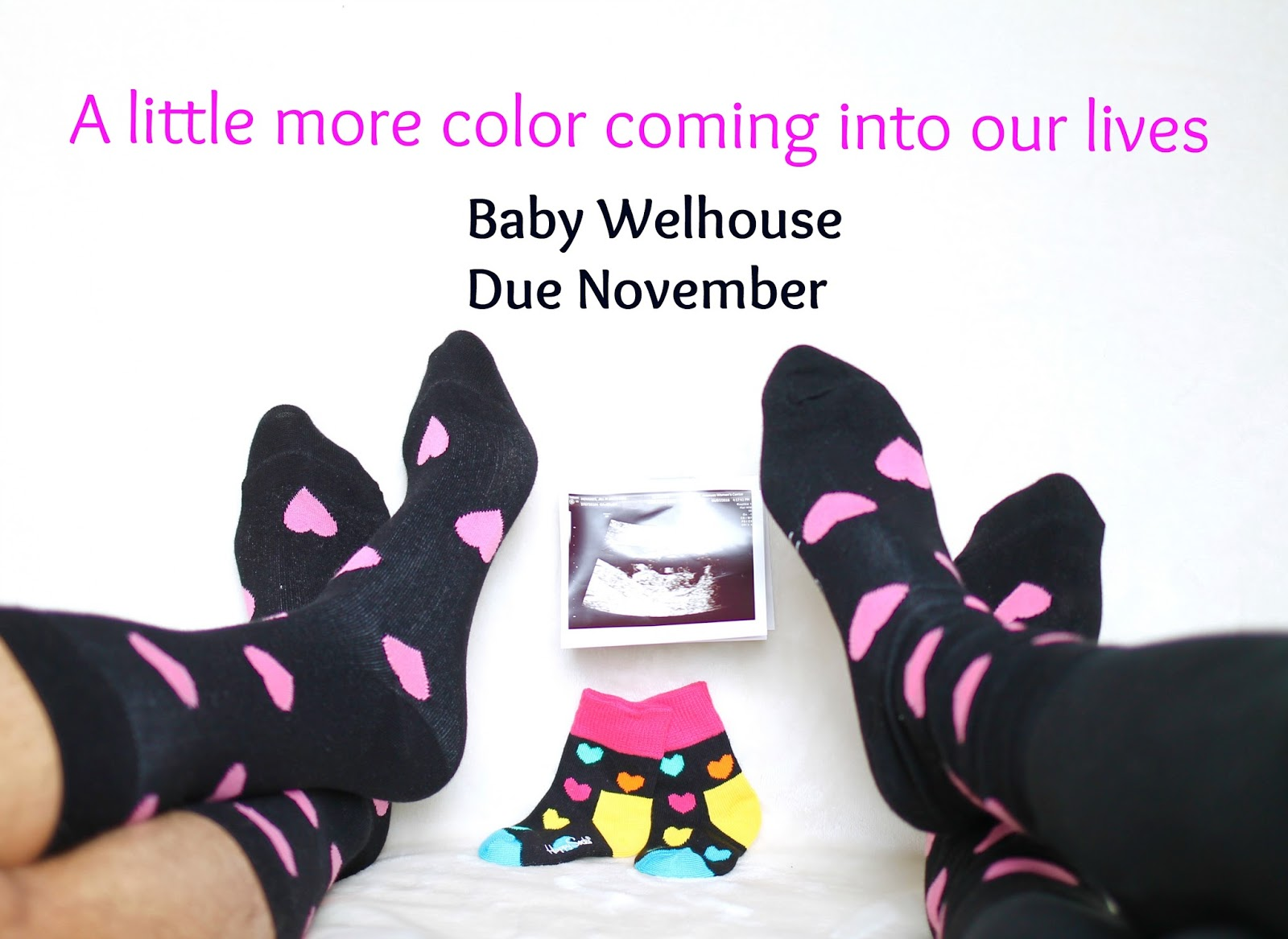 pregnancy, Baby announcement idea, expecting, happy socks