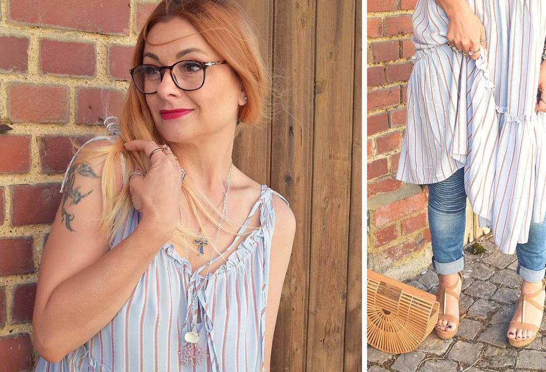 Blogger Outfit, Kleid über Hose