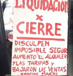 Se profundiza la crisis: por los tarifazos macristas, más de un tercio de los locales comerciales porteños, están vacíos