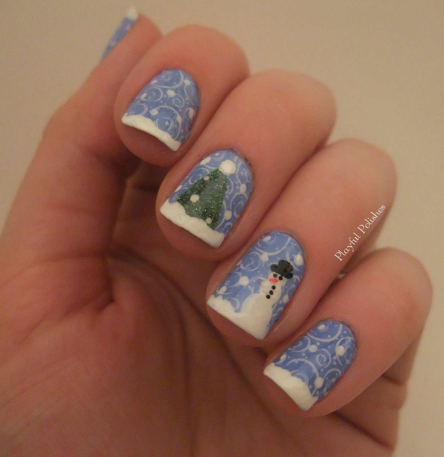playful polishes my favorite nail christmas design. Black Bedroom Furniture Sets. Home Design Ideas
