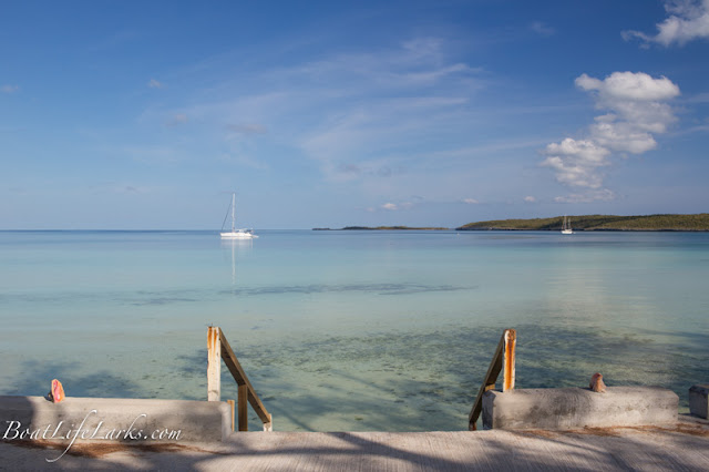 Sailboats at anchor, Governor's Harbour, Eleuthera