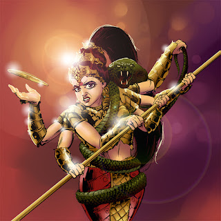 indian mythological warrior goddess durga
