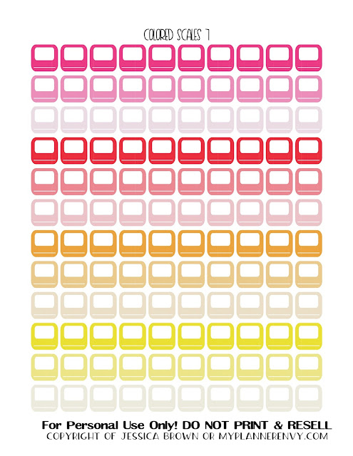 Free Printable Colored Bathroom Scales 7 from myplannerenvy.com