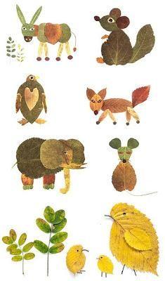 ideas hojas de otoño pinterest