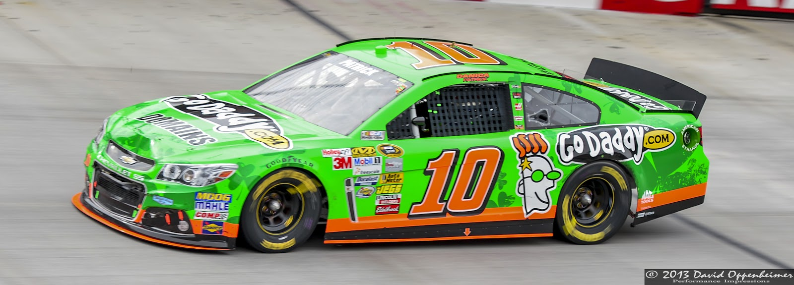 Danica Patrick at Bristol Motor Speedway during NASCAR Sprint Cup Food City 500