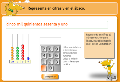 Resultado de imagen de NUMEROS DE CUATRO CIFRAS ACTIVIDADES INTERACTIVAS