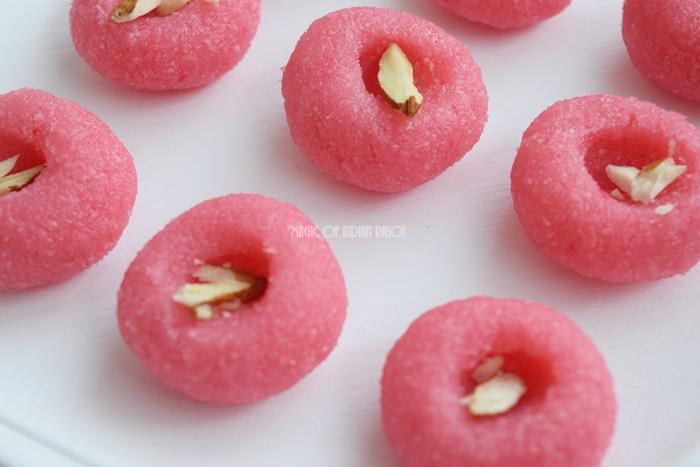 Strawberry Coconut Peda | Easy Mithai Recipe - Magic of Indian Rasoi - Priya R