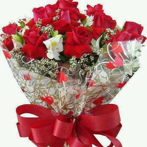 love u image with flower