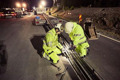 Suècia instal·la un tram de carretera electrificada