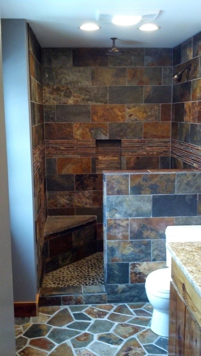 Copper Rust Slate Bathroom