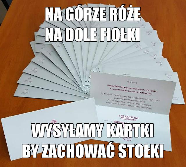 Kutno kartki imieninowe dla Róż