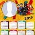 Calendario 2019 de Batman la Lego Película para Imprimir Gratis.