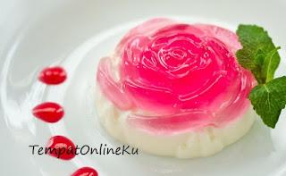puding mawar dua lapis