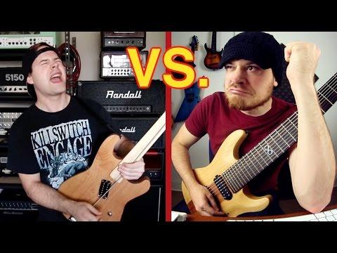 rob scallon jared dines 8 string vs djent stick and djent guitar