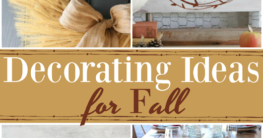 Decorating Ideas for Fall & Weekly Link Party
