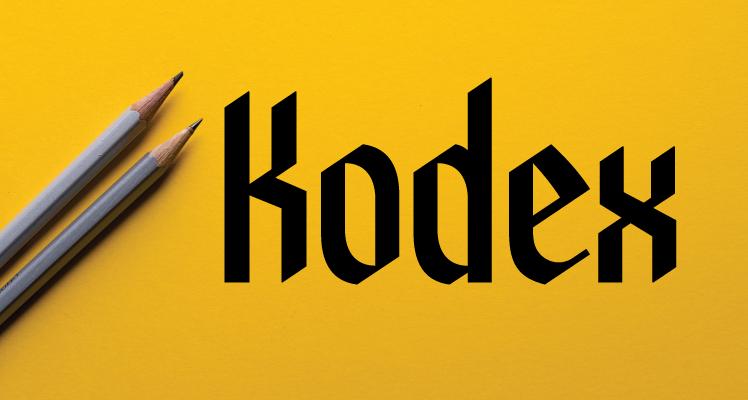 Kodex  font free preview