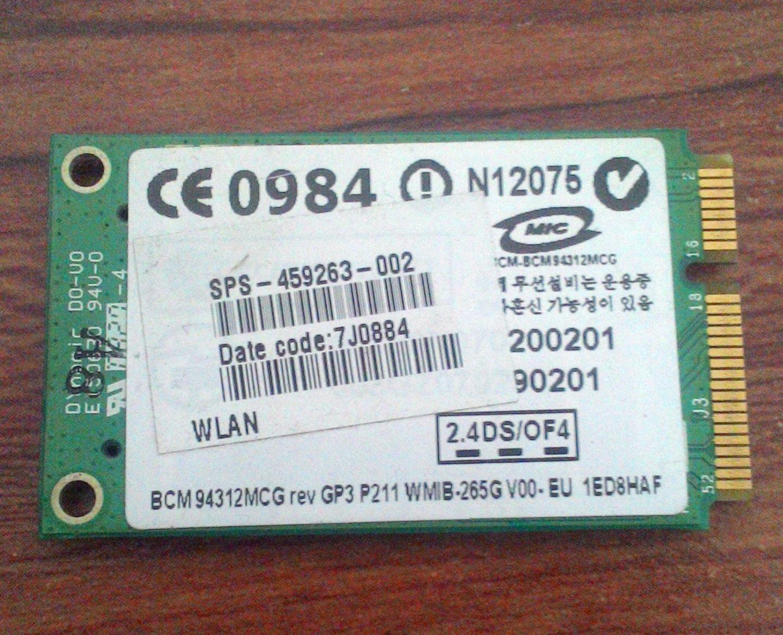 Jual WiFi Card Broadcom BCM94312MCG   Jual Beli Laptop, Kamera Bekas