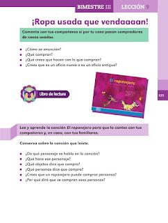 Apoyo Primaria Español 2do grado Bloque 3 lección 9 ¡Ropa usada que vendaaaan!