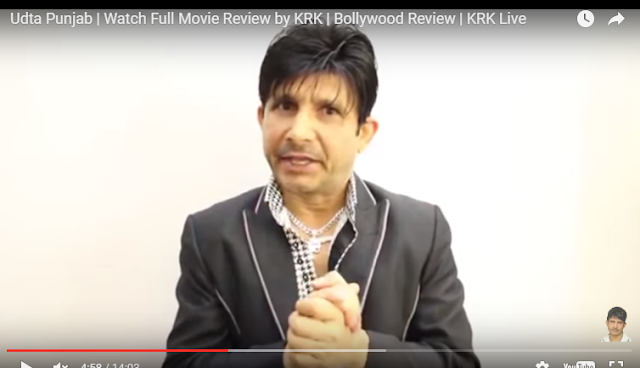 The motor mouth of Bollywood Kamaal R Khan has reviewed Udta Punjab, a day before its release.  It is so bad, skip the movie, which made headlines for its battle with the censor board, he says.  Almost everything is wrong with the movie, according to KRK. Shahid Kapoor and Alia Bhatt who look so striking in the film stills are too loud. Their acting is over the top  and Alia yells in almost every sentence.
