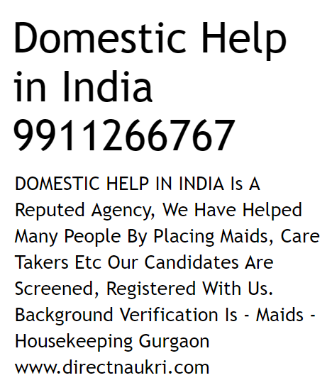 Govt Says Policy For Domestic Workers In Progress
