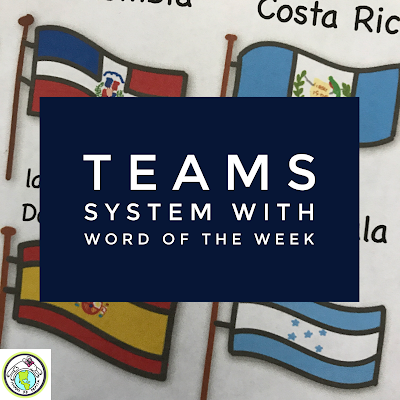 Teams System and Word of the Week for Foreign Language Classes