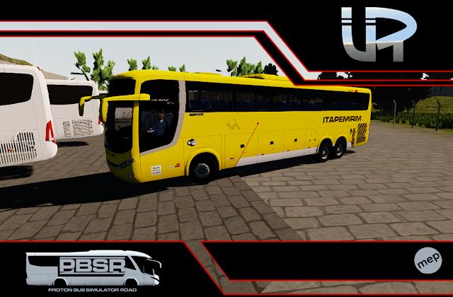 Skin Proton Bus Simulator Road - Comil Campione MB 0500 RSD Viação Itapemirim
