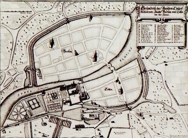 Mapa da Berlim antiga