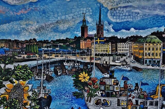 Stockholm İsveç'te Yaşam
