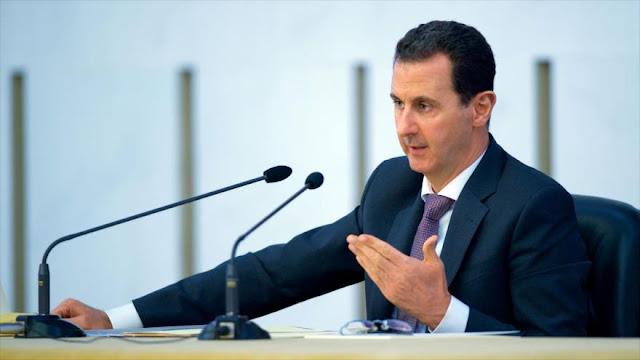 Al-Asad: EEUU indudablemente apoya al terrorismo en Siria