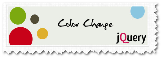 Changing Design Colors With Jquery Codes