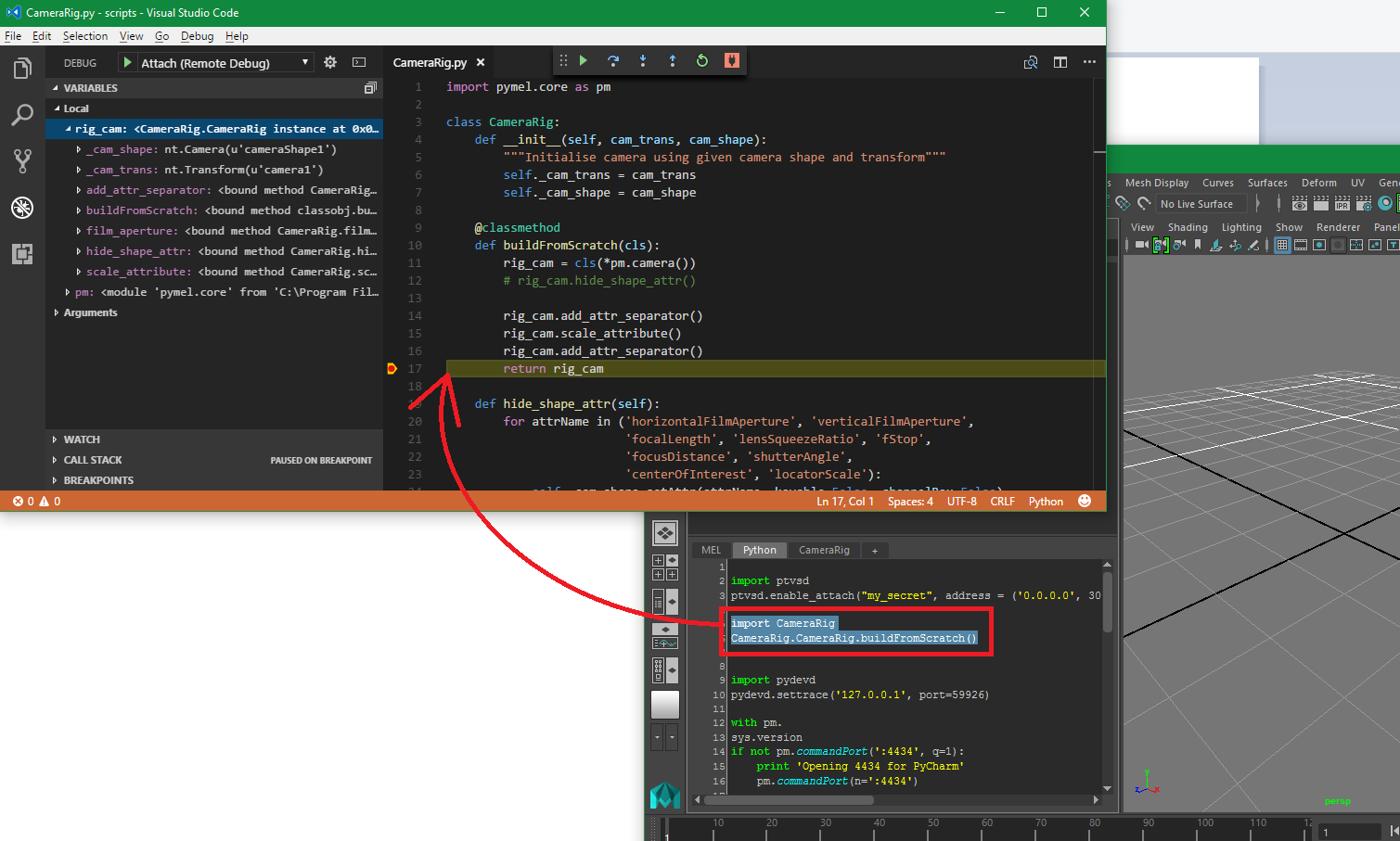Debugging Maya using Visual Studio Code
