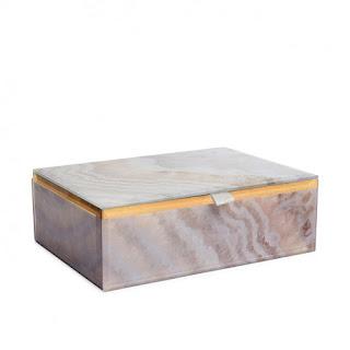 Gemstone Jewellery Box - Lola Rose - Natural Agate