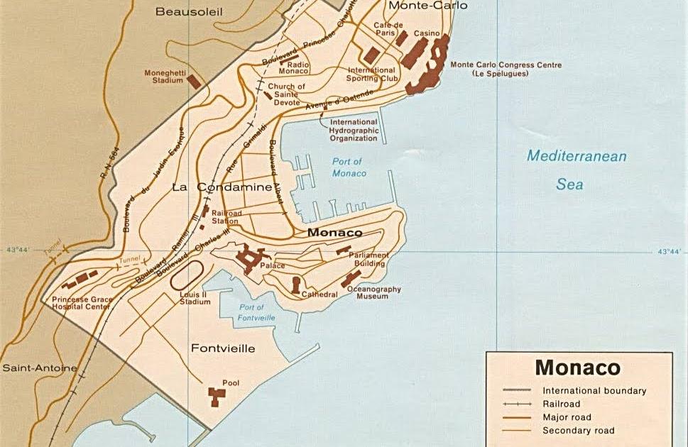 Kaart Landen West Europa Kaart Monaco
