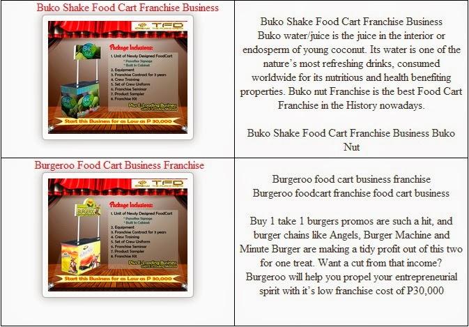TFD Foodcart Business Franchise: 30K FOOD CART CONCEPT