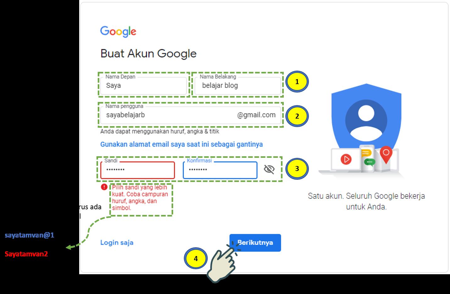 Cara Membuat Akun Gmail 1