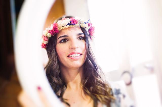 corona flores novia hip love