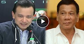 """Trillanes referring to Duterte: """"May kasabihan matagal mamatay ang masamang damo!"""""""